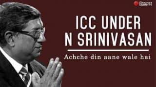 ICC under N Srinivasan: Achche din aane wale hai