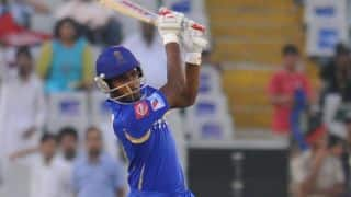 Rajasthan Royals (RR) vs Kings XI Punjab (KXIP), IPL 2014: Sanju Samson departs for 52