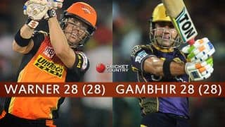 Sunrisers Hyderabad vs Kolkata Knight Riders, Eliminator, IPL 2016 at Delhi: Kuldeep Yadav's double strike, Bhuvneshwar Kumar's excellent spell and other highlights