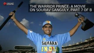 The Warrior Prince: A movie on Sourav Ganguly, Part 7 of 8