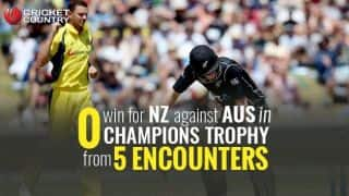 ICC Champions Trophy 2017: Statistical preview for Australia-New Zealand clash
