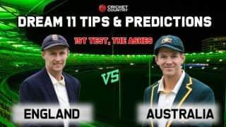 Dream11 Team Australia vs England Ashes 2019 Prediction tips for today's 1st Test AUS vs ENG at Edgbaston, Birmingham