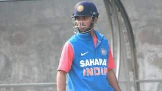 India vs Sri Lanka 2014, 2nd ODI at Ahmedabad: Ajinkya Rahane dismissed by Dhammika Prasad