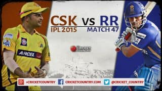 Live Cricket Score Chennai Super Kings vs Rajasthan Royals IPL 2015, Match 47 at Chennai, RR 145/9 in 20 overs: CSK win by 12 runs