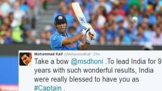 MS Dhoni quits ODI, T20I captaincy; Twitter erupts