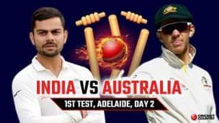 India vs Australia 2018, 1st Test, Day 2 Live Cricket Score and Updates: Travis Head's unbeaten 61 leads Australia to 191/7 at stumps