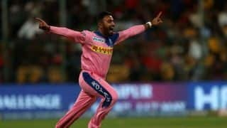 Shreyas Gopal claims 2nd hat-trick of IPL 2019, removing Virat Kohli, AB de Villiers and Marcus Stoinis