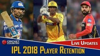 IPL 2018 Player Retention: Live Updates