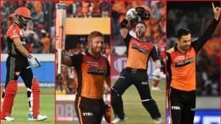 हैदराबाद की तूफानी बल्लेबाजी और कातिलाना गेंदबाजी ने किया बैंगलुरू को चित