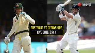 Live Cricket Score Australians vs Derbyshire, Tour Match at Derby, Day 1: Australia end at 413/9
