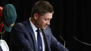 Clarke delivers emotional eulogy for Hughes