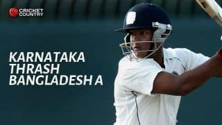Suchith J's six-wicket haul helps Karnataka defeat Bangladesh A by 4 wickets in 3-day match