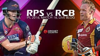 RPS 172/8 in Overs 20 | Live Cricket Score Rising Pune Supergiants (RPS) vs Royal Challengers Bangalore (RCB) IPL 2016: RCB win by 13 runs