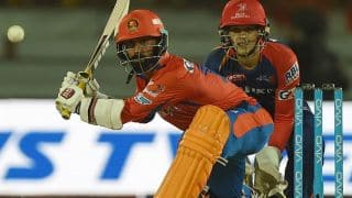 Dinesh Karthik's half-century helps Gujarat Lions crawl to 149 for 7 against Delhi Daredevils in IPL 2016