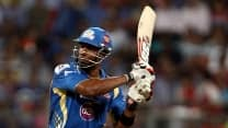 Kieron Pollard scores blazing 50, Mumbai Indians at 146/5 after 18 overs against Sunrisers Hyderabad, IPL 2014