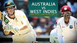 WI 248/7 | Live Cricket Score, Australia vs West Indies 2015-16, 3rd Test at Sydney, Day 2: Stumps