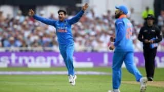 Kuldeep Yadav's 6 for 25 best ODI figures by a left-arm spinner