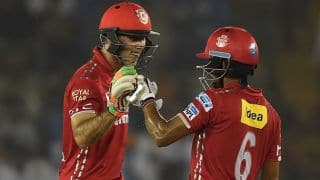 Marcus Stoinis, Wriddhiman Saha shine as Kings XI Punjab reach 181 for 5 against Delhi Daredevils in IPL 2016