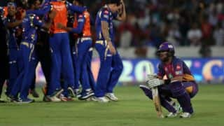 Junctures where RPS lost IPL 2017 plot against MI
