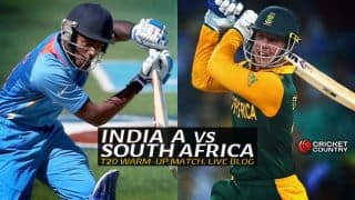 IND A 193/2 | Overs 19.4 | Live Cricket Score India A vs South Africans, T20 tour match at Palam, New Delhi: IND A thrash SA by 8 wickets