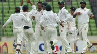 Bangladesh's lowest ever total in Test cricket against West indies