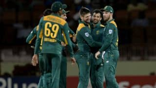 AUS 142 in 34.2 Overs   Live Cricket Score, Australia vs South Africa, West Indies Tri-Nation Series 2016, Match 3 at Guyana: SA win by 47 runs
