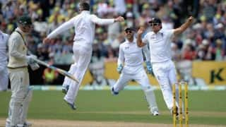 Ashes 2013-14: England strike thrice as Australia are at 174/4 at tea on Day 1 of 2nd Test