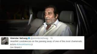 Vinod Khanna passes away: Cricket fraternity mourns