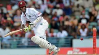 Edwards, Brathwaite take West Indies to 124/3 at Lunch