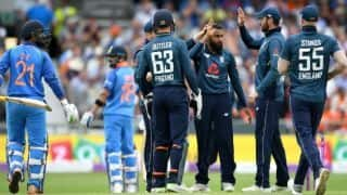 India vs England, 3rd ODI: Middle-order falters again as India post 256/8