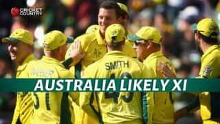 India vs Australia 2015-16, 1st ODI at Perth: Hosts' likely XI