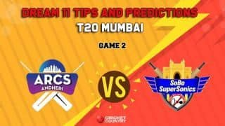 Dream11 Prediction T20 Mumbai: AA vs SS Team Best Players to Pick for Today's Match between Arcs Andheri and Sobo Supersonics at 7:30 PM