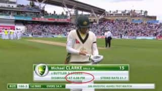 Ashes 2015: Michael Clarke dismissed at 4:08 pm on Day 1 of Oval Test!