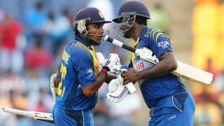 Sri Lanka vs Pakistan 2014, 2nd ODI at Hambantota: 50 partnership between Mahela Jaywardene and Angelo Mathews