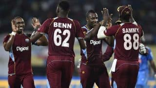 West Indies players wear black armband in 2nd ODI vs India at Delhi in protest