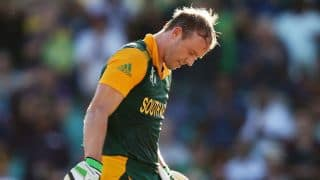 AB de Villiers gets out one short of hundred against UAE in ICC Cricket World Cup 2015