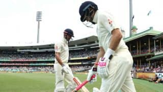 England lose openers before tea; trail Australia by 278