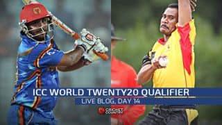 Live Cricket Score ICC World Twenty20 Qualifier 2015, July 23, Playoffs: Oman clinch ICC World Twenty20 2016 berth, defeat Namibia by five wickets