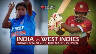India Women vs West Indies Women, T20 Women's World Cup 2016, Match 18 at Mohali: Preview