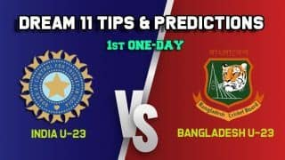 IN-U23 vs BN-U23 Dream11 Team India U-23 vs Bangladesh U-23, 1st One-Day– Cricket Prediction Tips For Today's match at Lucknow