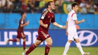 Russia settle for 1-1 draw with Korea Republic in FIFA World Cup 2014 Group H match