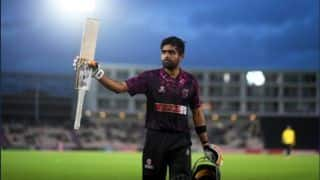 T-20 BLAST : Babar Azam Scores 102* as Somerset Crush Hampshire by 63 (D/L method) runs