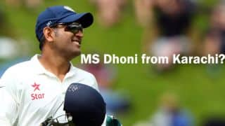 MS Dhoni, are you from Karachi?