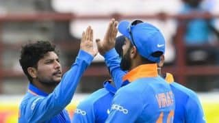 Kuldeep Yadav four short of becoming fastest Indian to 100 ODI wickets