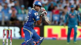 Rohit Sharma, Corey Anderson progress slowly for Mumbai Indians against Chennai Super Kings in IPL 2014