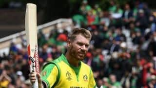 Cricket World Cup 2019: David Warner's 166 sets up Australia's 48-run win over Bangladesh