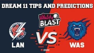 Dream11 Team Lancashire vs Warwickshire Match T20 BLAST 2019 2019 T20 Blast – Cricket Prediction Tips For Today's T20 Match LAN vs WAS at Manchester