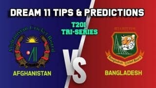 AFGH vs BAN Dream11 Team Afghanistan vs Bangladesh, Match 6, T20I Tri-series – Cricket Prediction Tips For Today's Match AFGH vs BAN at Chattogram