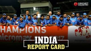 Report card for Kohli's men