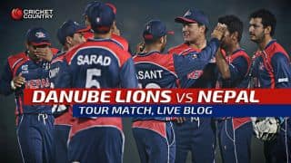 LIONS 193 | Overs 16 | Live Cricket Score, Nepal vs Danube Lions, 50-over practice match at Dubai: Nepal win by 14 runs